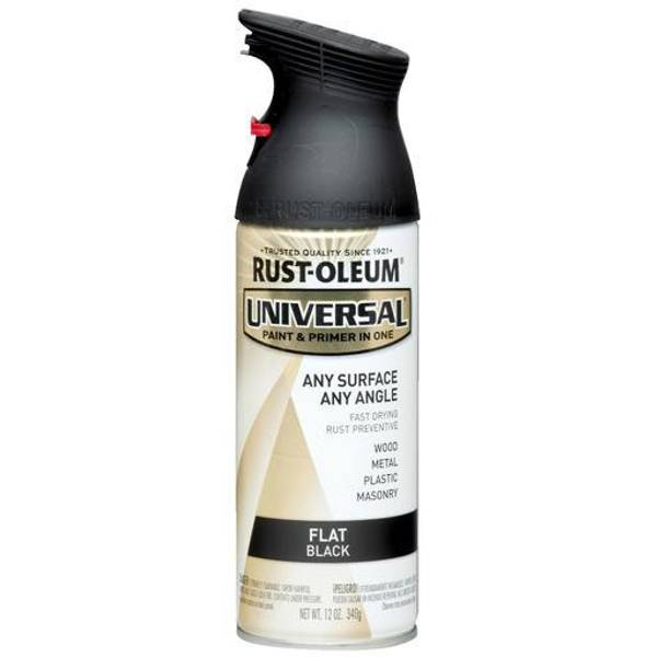 Rust Oleum Universal Spray Paint Color Flat Black At Blain 39 S Farm Fleet