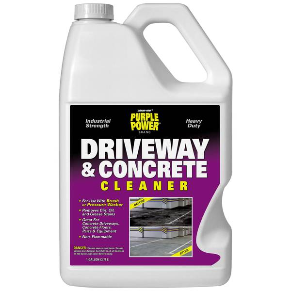 Purple power driveway and concrete cleaner for Concrete cleaner oil remover