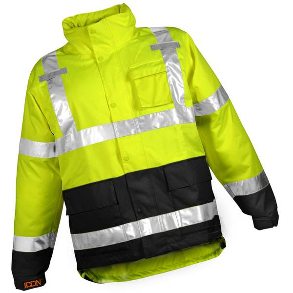 Men's Job Sight High-Visibility Icon Rain Jacket