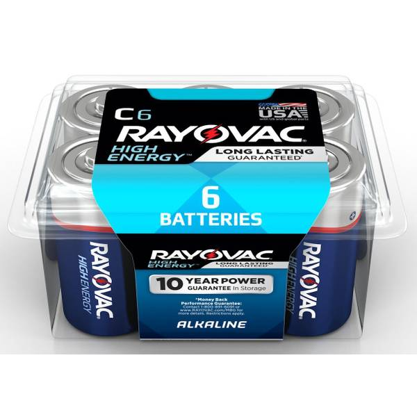 D Alkaline Batteries 6-Pack