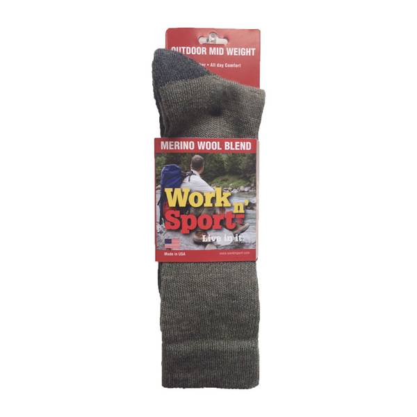 deeca22a32a19 Work n' Sport Men's Iso Wool Boot Socks