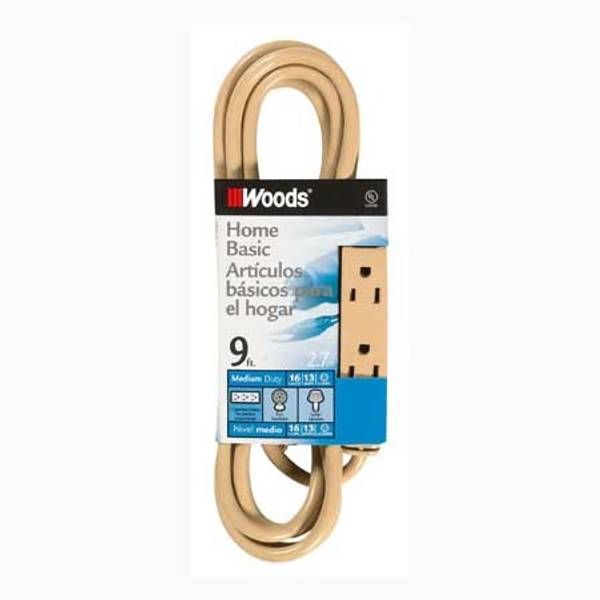 3 Outlet Indoor Power Tap Extension Cord