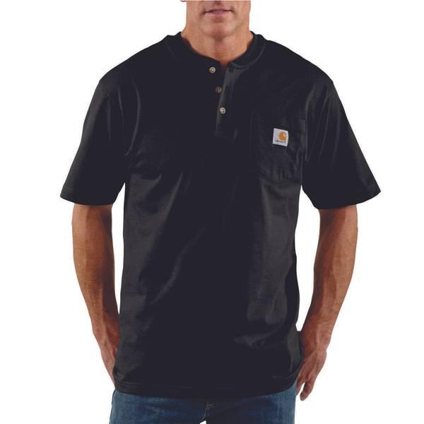 Men's Short Sleeve Work Wear Henley