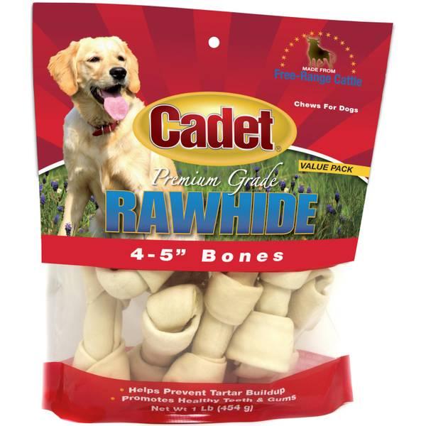Natural Rawhide Knot Bones 10 pack