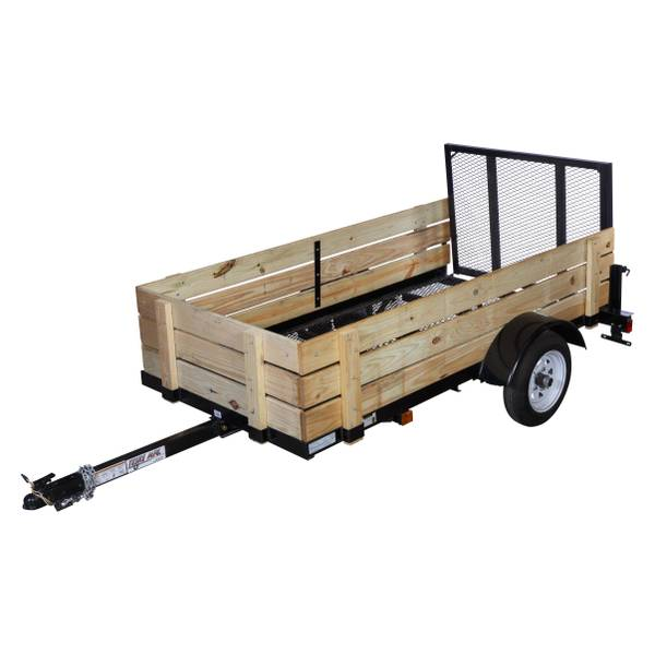 4' x 8' Utility Trailer with Wood Sides