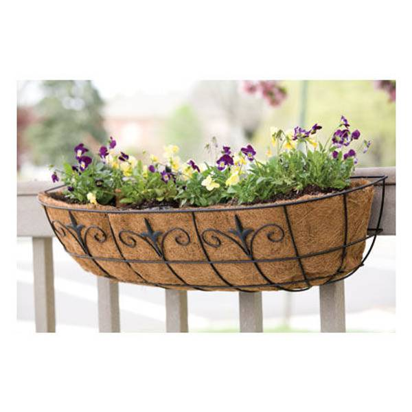 Modern Railing Planters Custom By Rushton: Panacea Classic Finial Window / Deck Planter