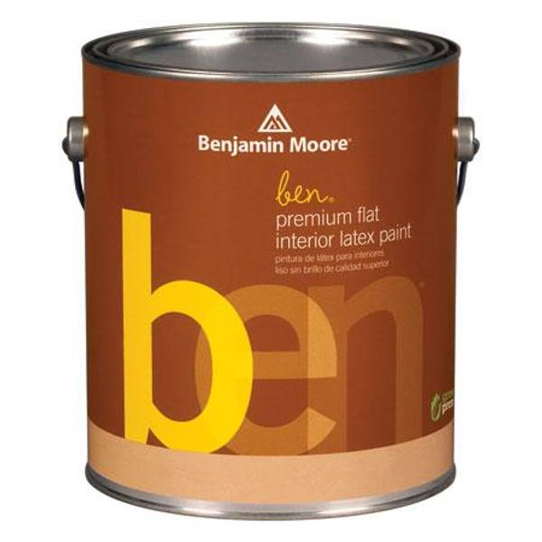 Benjamin Moore 1 Gallon Ben(R) Interior Flat Finish Latex Paint