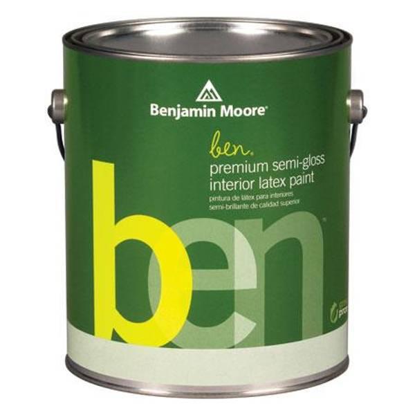 Benjamin Moore 1 Gallon ben(R) Interior Semi-Gloss Finish Latex Paint