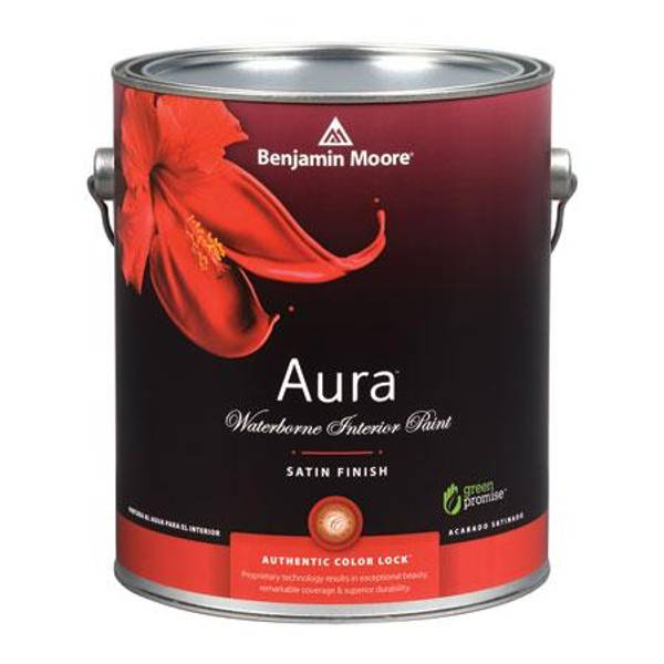 moore benjamin moore 1 quart aura r interior satin finish paint. Black Bedroom Furniture Sets. Home Design Ideas