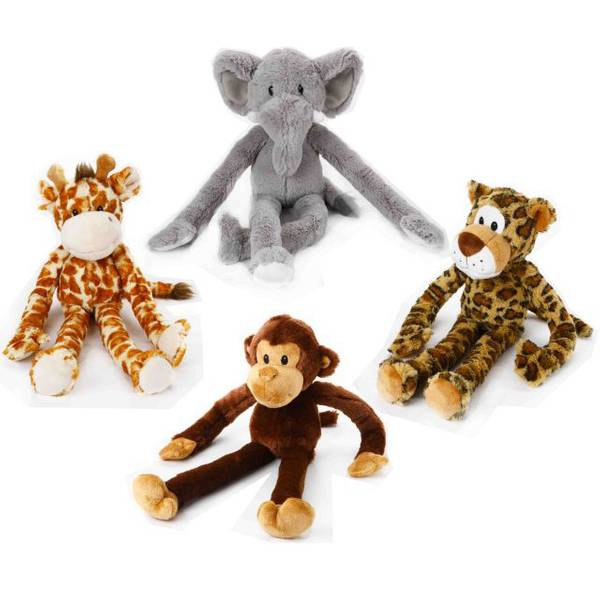 Swingin' Safari Stuffed Dog Toy Assortment