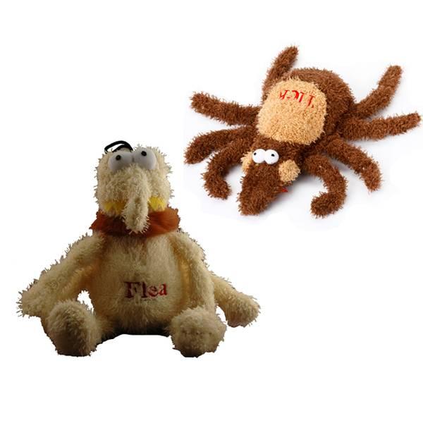 Flea and Tick Stuffed Dog Toy Assortment