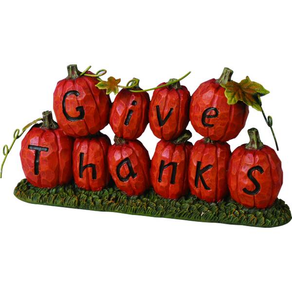"""Give Thanks"" Pumpkin Figurine Assortment"