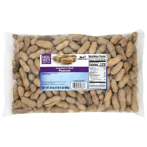 Unsalted in Shell Peanuts