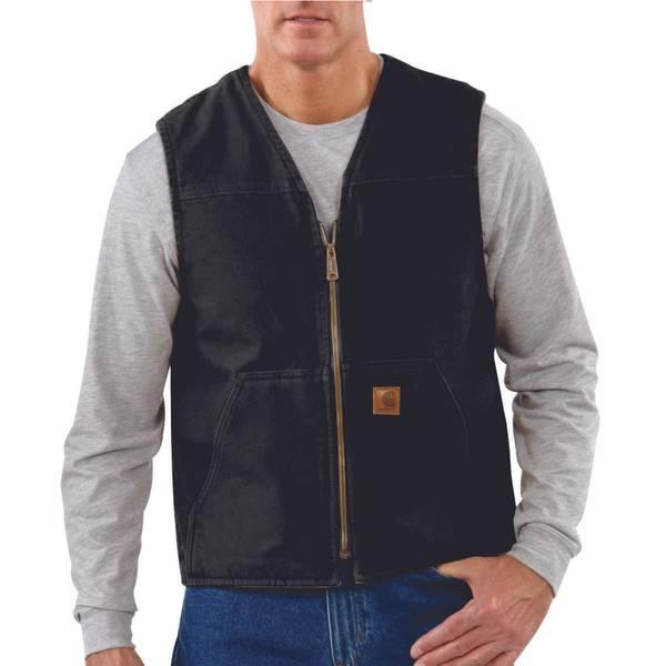 Men's Sherpa Lined Sandstone Rugged Vest