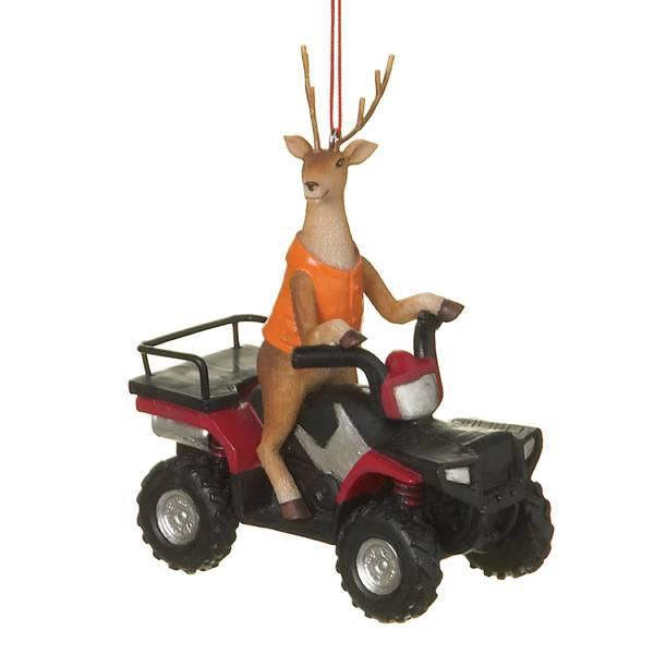 Midwest-CBK Deer Hunter on ATV Christmas Tree Ornament
