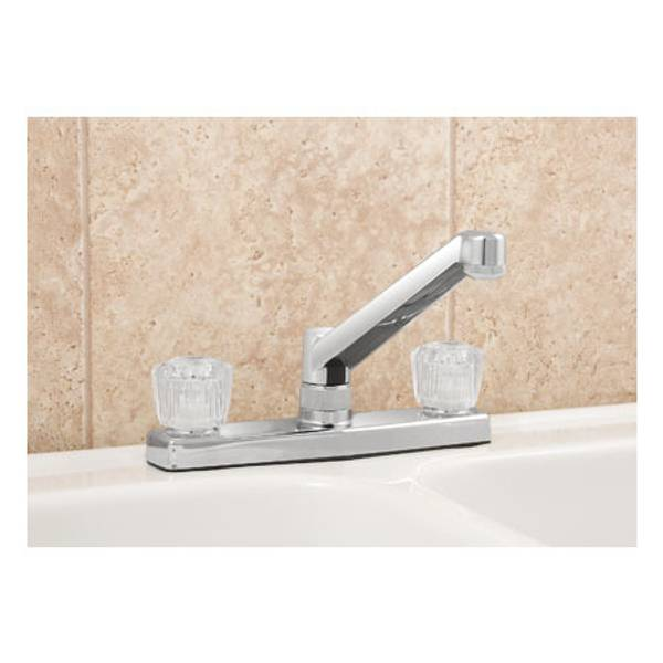 Two Handle Traditional Kitchen Faucet Without Sprayer
