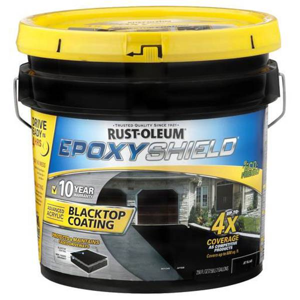 Rust Oleum Epoxy Shield : Rust oleum epoxy shield blacktop coating