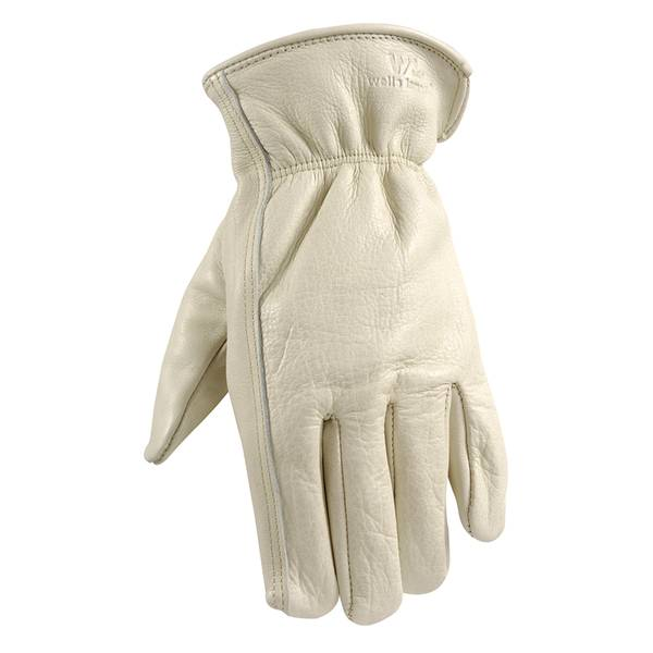 Men's Cowhide Grain Full Leather Glove