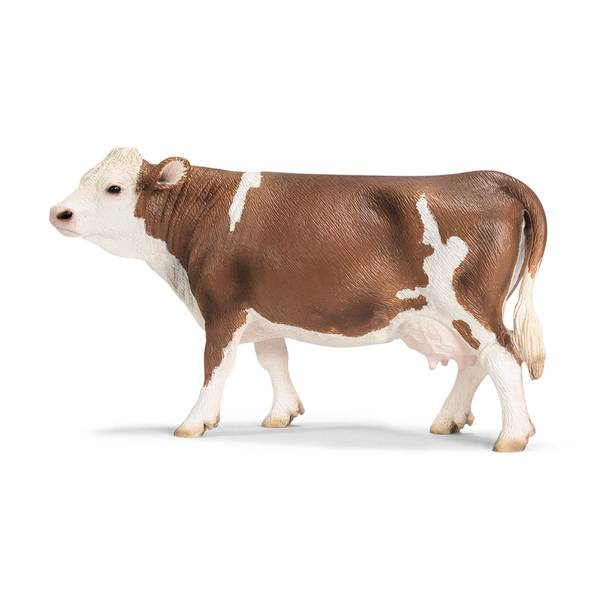 Simmental Cow Toy Figurine