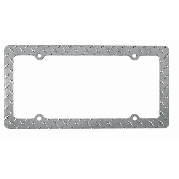 Diamond Pattern Metal License Frame