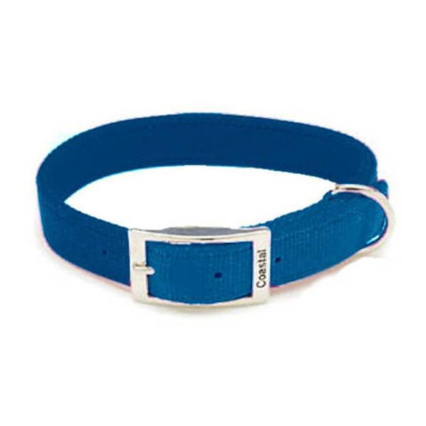 Double Ply Blue Nylon Collar