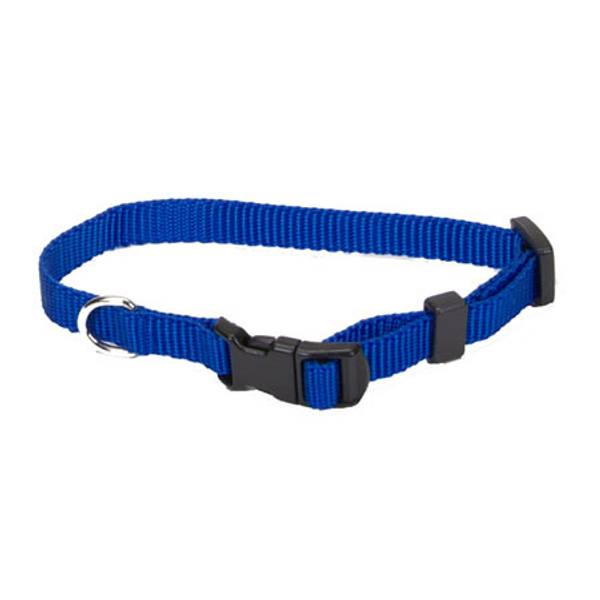 Tuff Buckle Adjustable Blue Nylon Collar