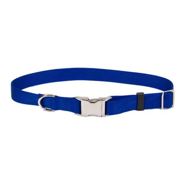 Adjustable Blue Collar With Metal Buckle