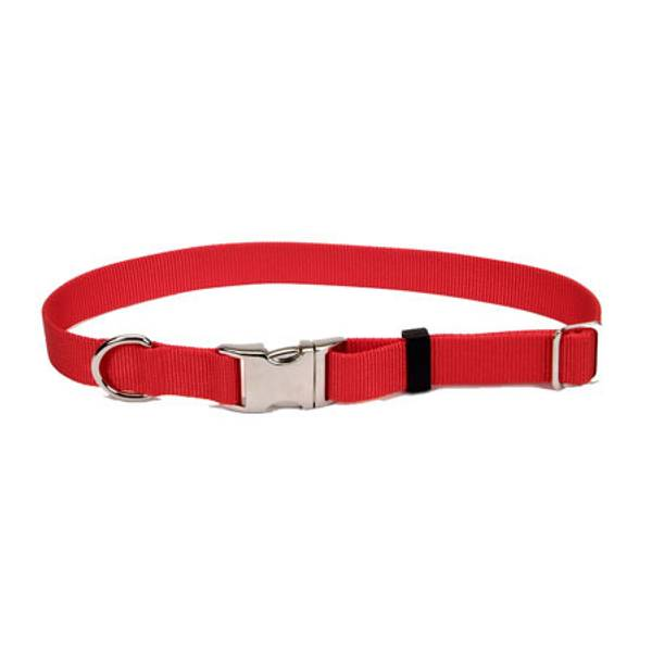 Adjustable Red Collar With Metal Buckle