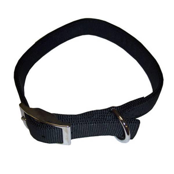 Double Ply Black Nylon Collar