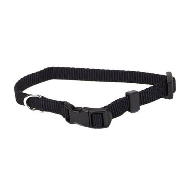 Tuff Buckle Adjustable Black Nylon Collar