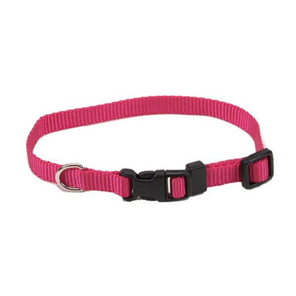Tuff Buckle Adjustable Pink Flamingo Nylon Collar