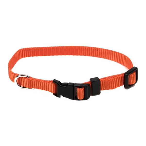 Tuff Buckle Adjustable Sunset Orange Nylon Collar