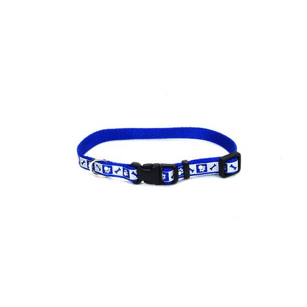 Blue Bones Reflective Adjustable Collar