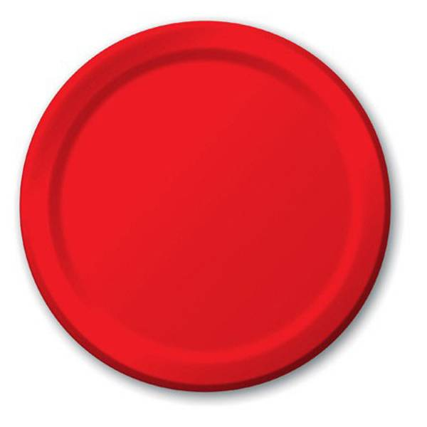 Classic Red Luncheon Plates