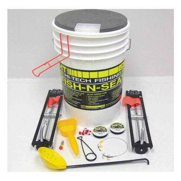 Hi-Tech Fishing 19 Piece Polar Tip Up Bucket Kit