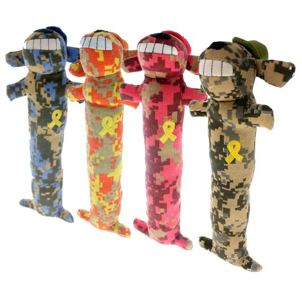 Support Our Troops Loofa Dog Assortment