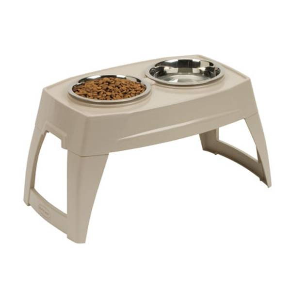 Elevated Double Bowl Dog Feeder