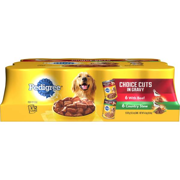12 Pack Choice Cuts in Gravy Dog Food