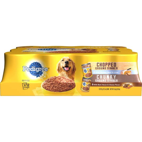 12 Pack Meaty Ground Dinner Dog Food