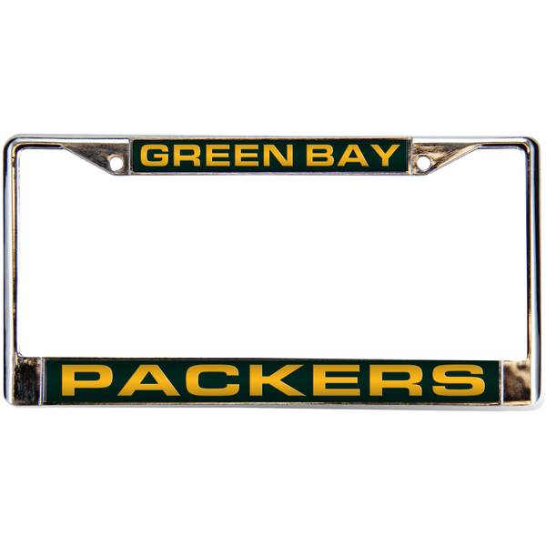 NFL Green Bay Packers Chrome License Plate Frame