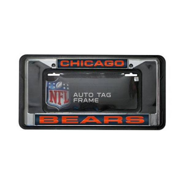 NFL Chicago Bears Chrome License Plate Frame