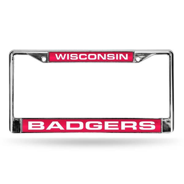 University of Wisconsin Chrome License Plate Frame