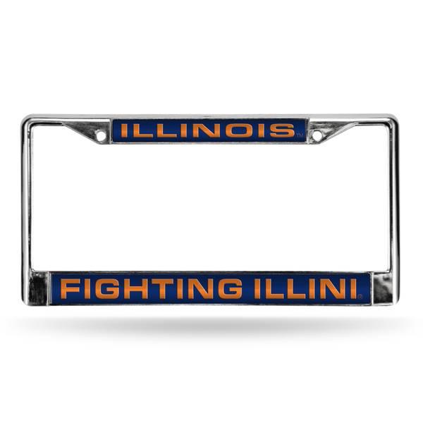 University of Illinois Fighting Illini Chrome License Plate Frame