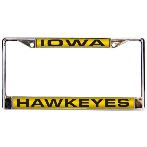 University of Iowa Chrome License Plate Frame