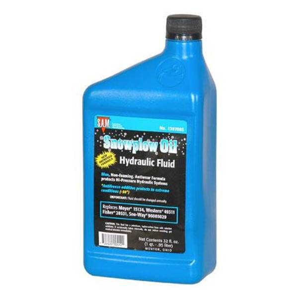 Snow Plow Hydraulic Fluid