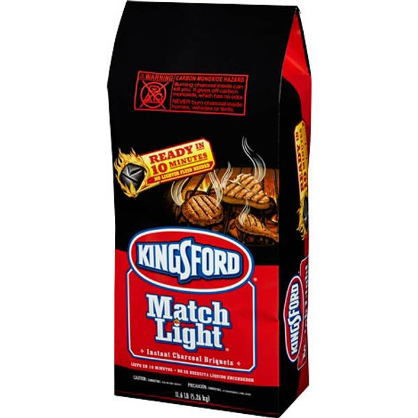 Kingsford Match Light Charcoal Briquettes ignites without the need to add lighter fluid. Each charcoal briquette contains just the right amount of lighter fluid and features Sure Fire Grooves which have more edges for faster lighting, so you can quickly light the grill with just a match.