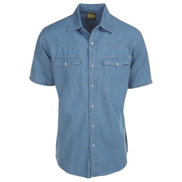 Men's Short Sleeve Denim Western Shirt