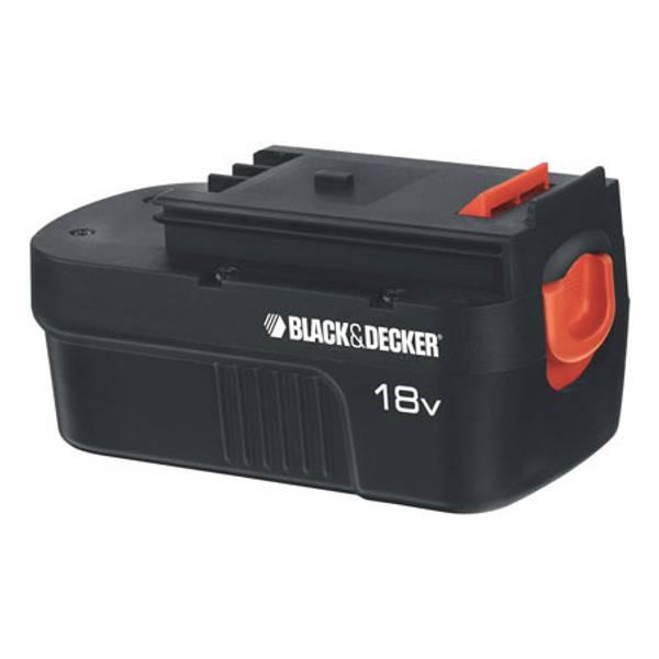 Black Amp Decker 18v Slide Battery