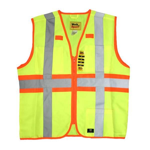 Big Men's Hi - Visibility Class 2 Enhanced Reflective Safety Vest
