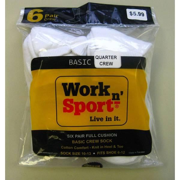 Basic Quarter Crew Socks